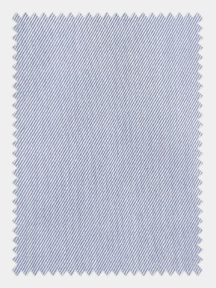 Zilver overhemd op maat lichtblauw luxe maatshirt, glanzend overhemd