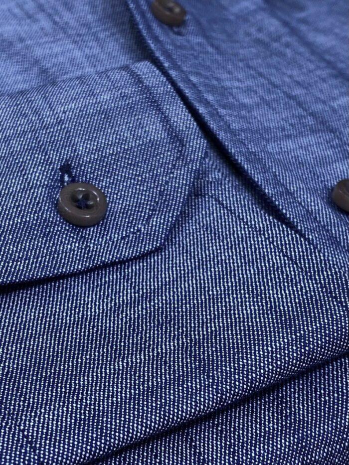 jeans blouse zwarte knopen