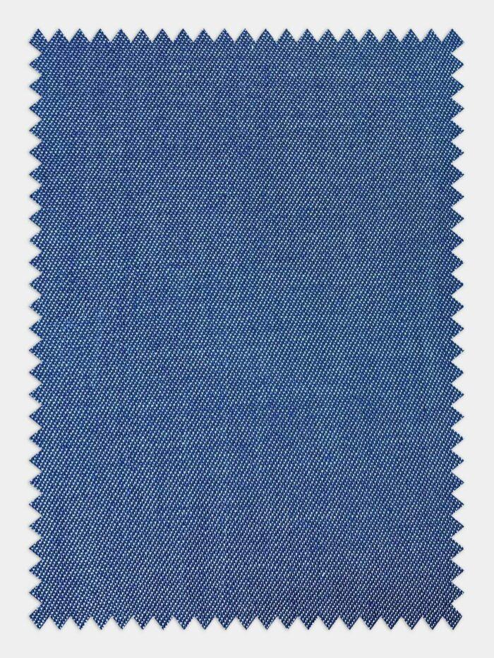 Jeans hemd op maat luchtige stof Medium blauw