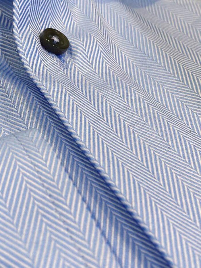 katoenen visgraat print details
