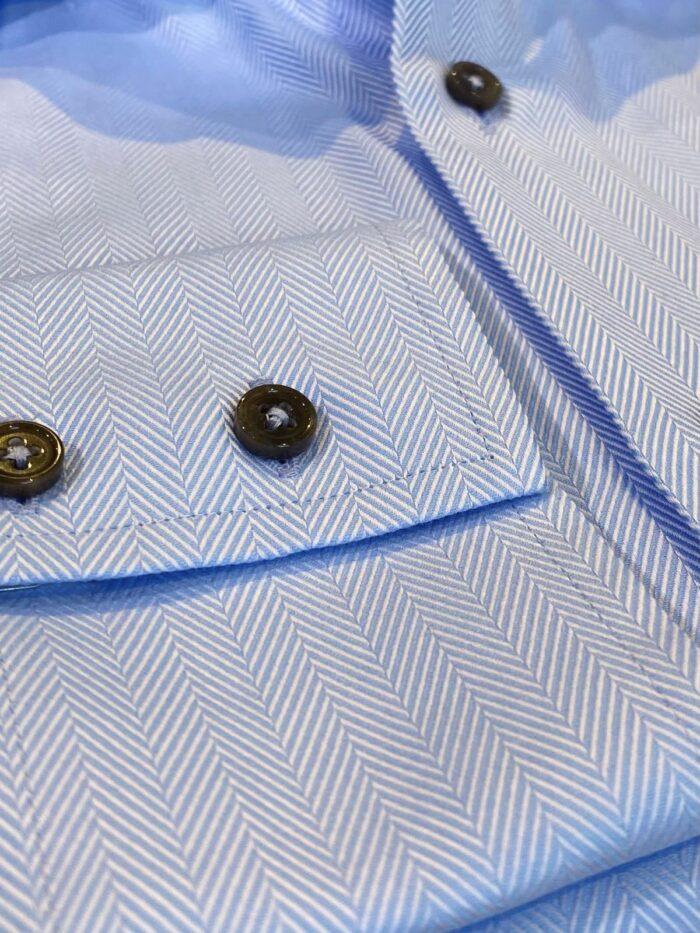 double button manchet visgraat