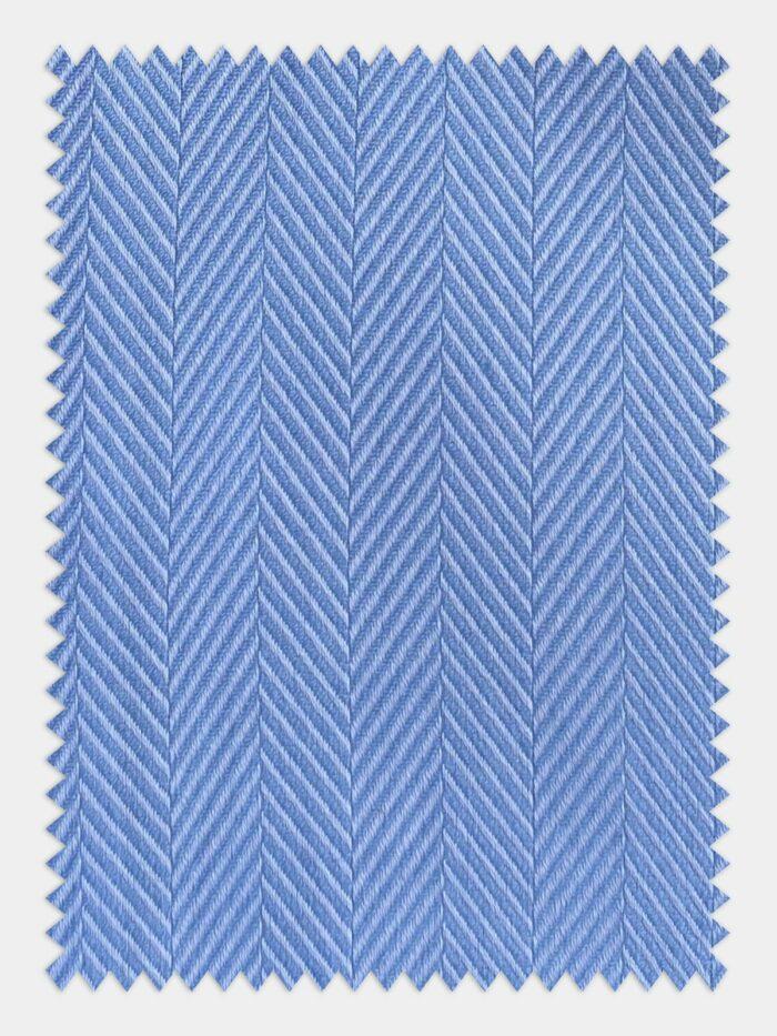 Visgraad blouse, lichtblauw overhemd, Herringbone