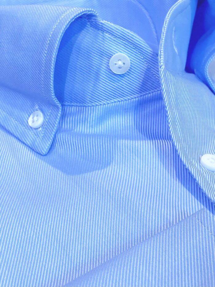 boord licht blauwe streep stof