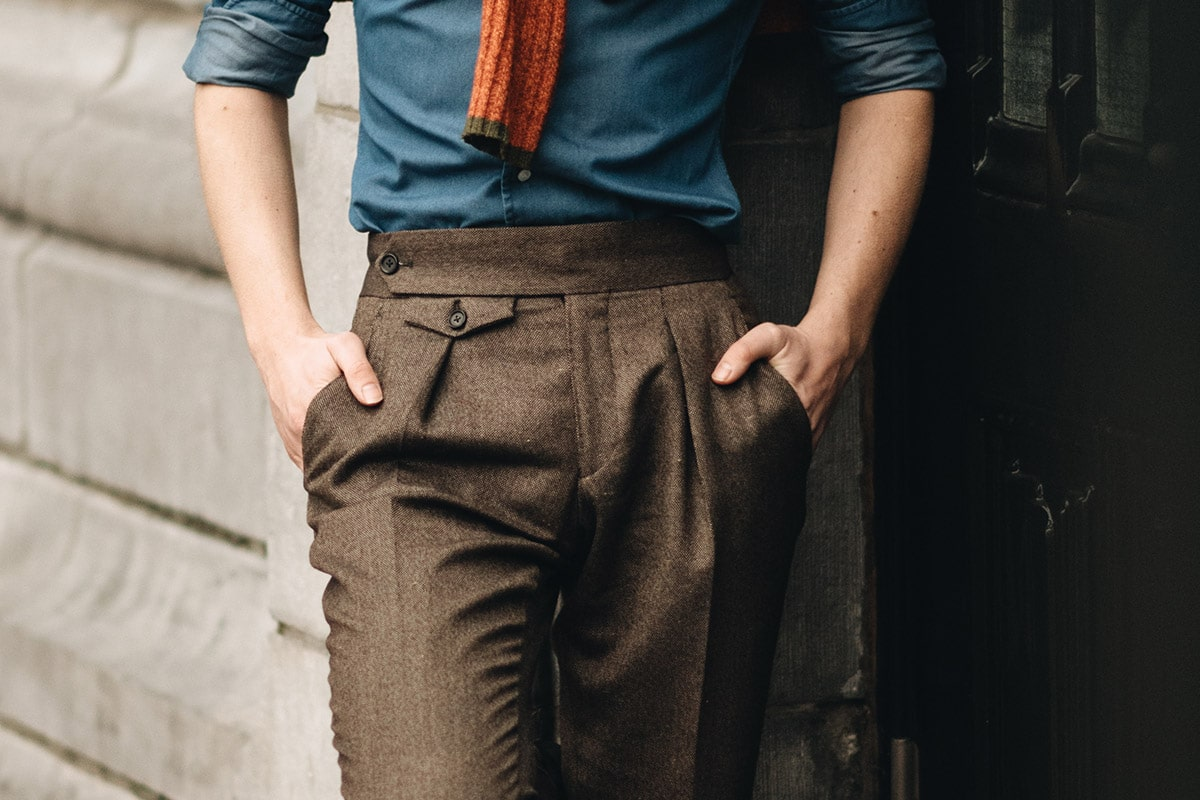bandplooi broek trousers