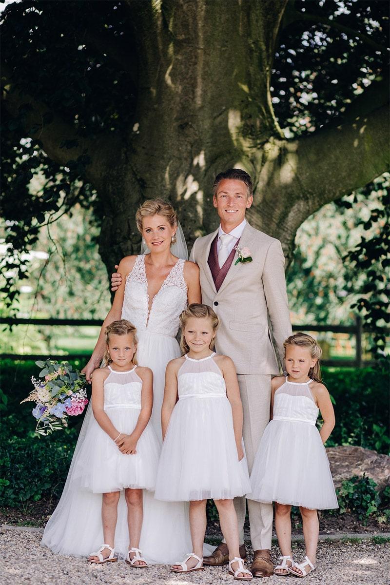 dochters als bruidsmeisjes