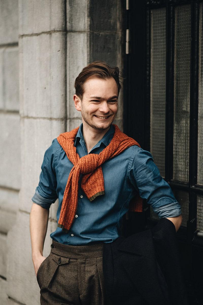 streetstyle knitwear oranje