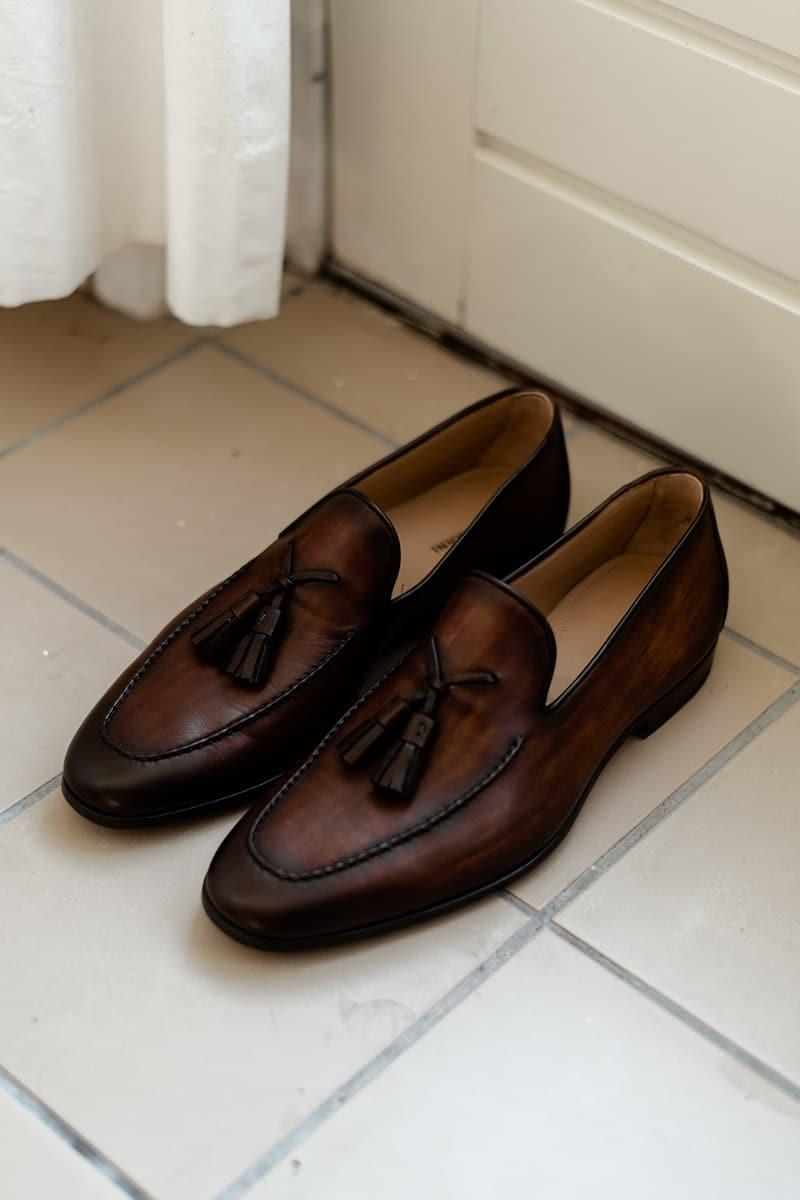 leren loafers voor bruidegom