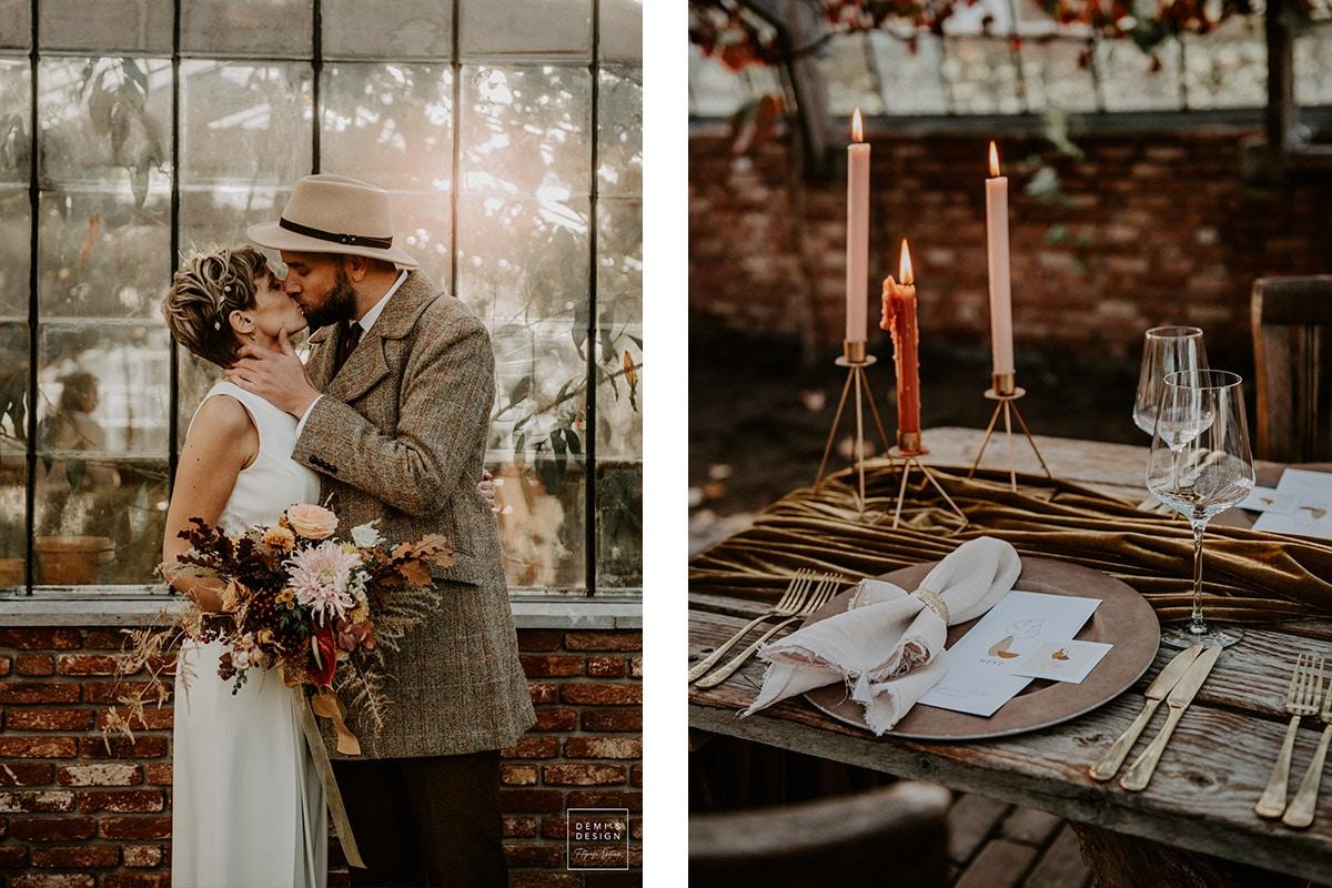 herfst styling op bruiloft