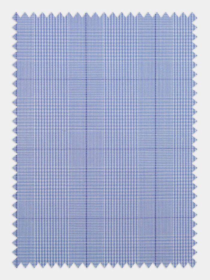 stof pin point lichtblauw