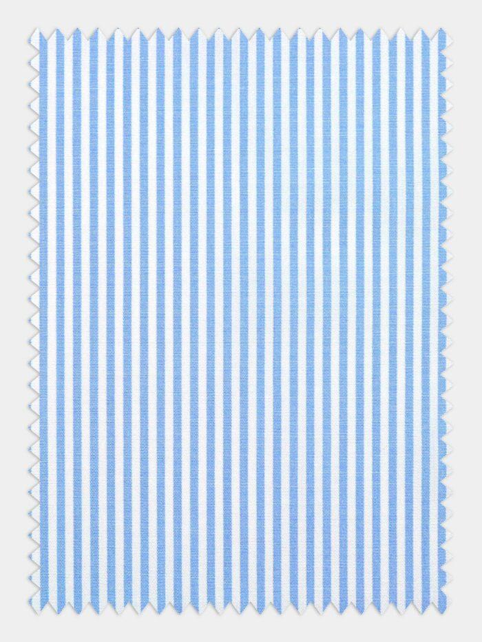 wit blauw poplin streep