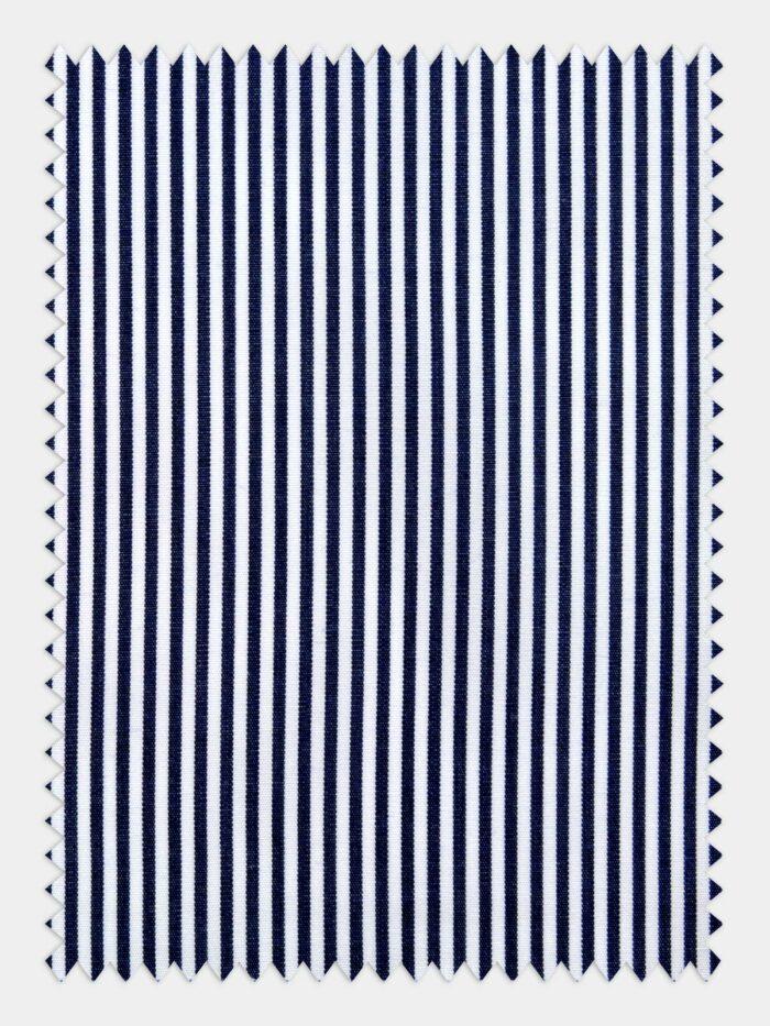 wit navy poplin streep
