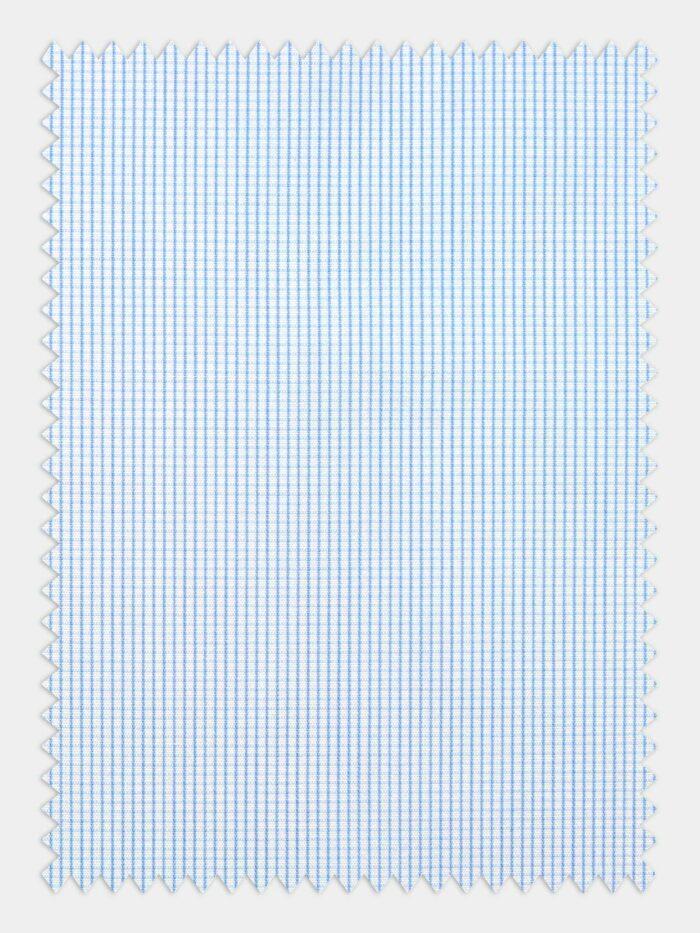 stof kleine ruitjes licht blauw wit dunne lijnen