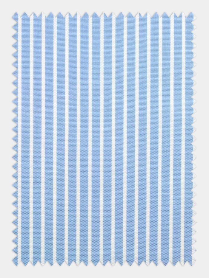pin point streepjes stof licht blauw wit
