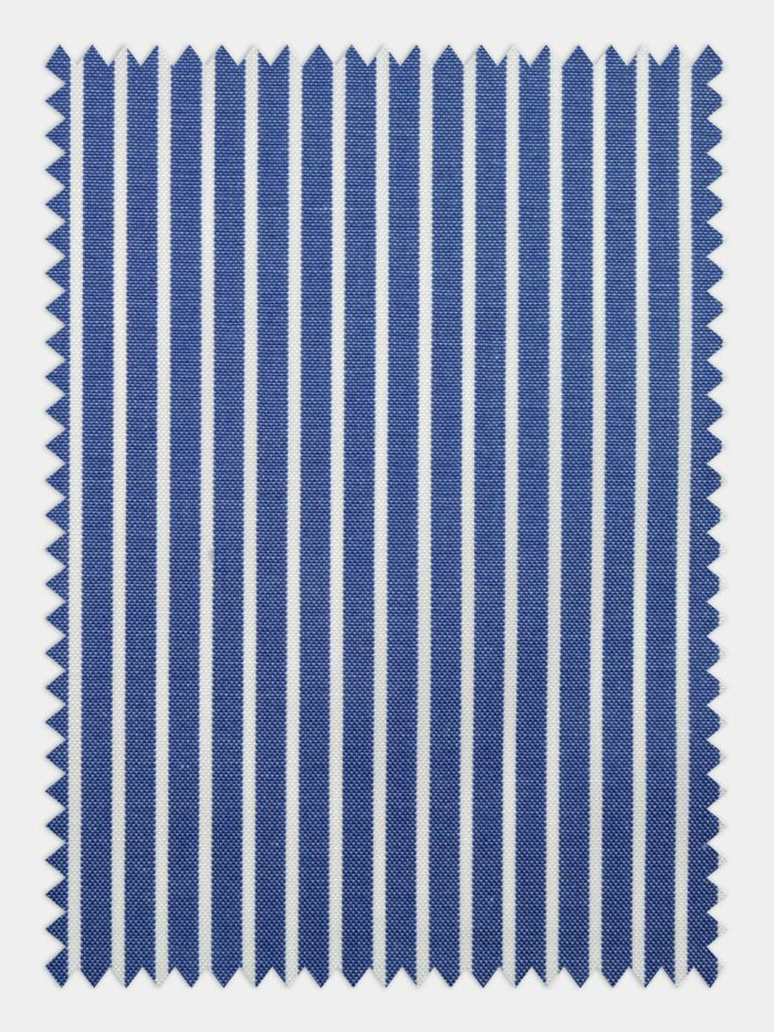 pin point streepjes stof donkerblauw wit
