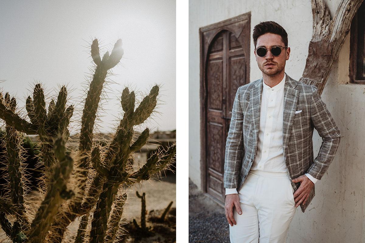 natuurtint maatpak ruit in marokko