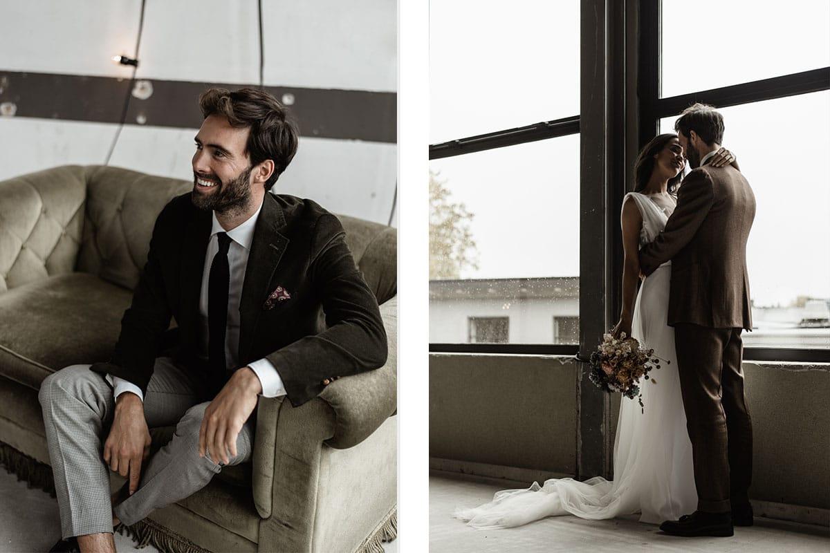 bruidegom en bruid vintage wedding