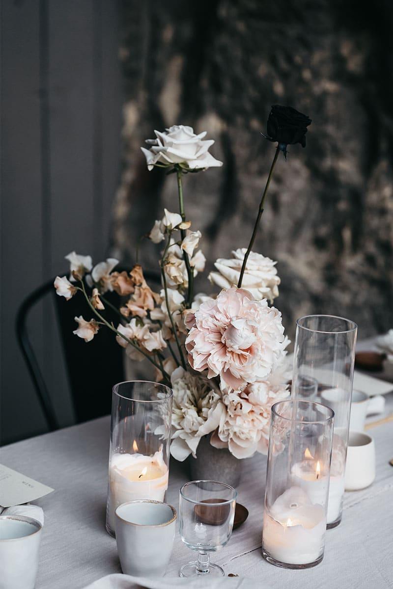 tafel styling bloemen