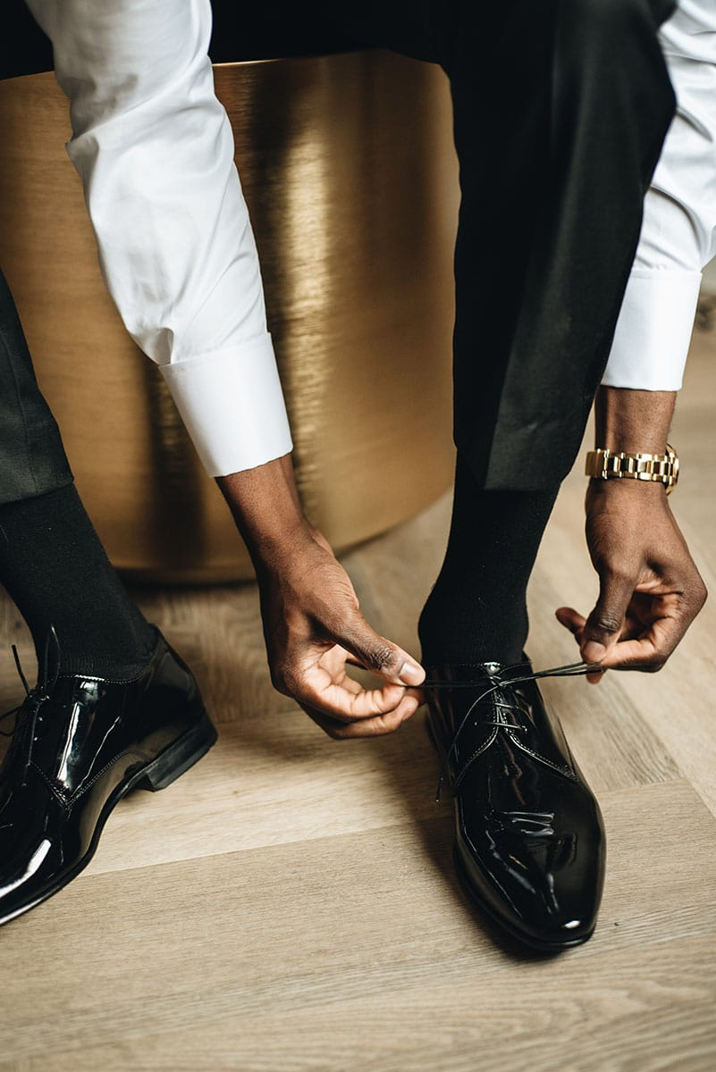 lak smoking schoenen
