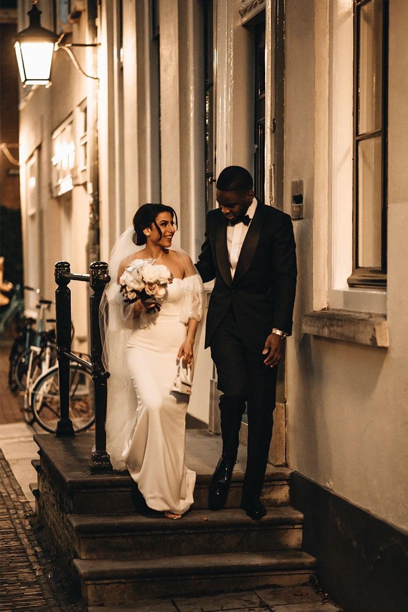 bruidegom in smoking