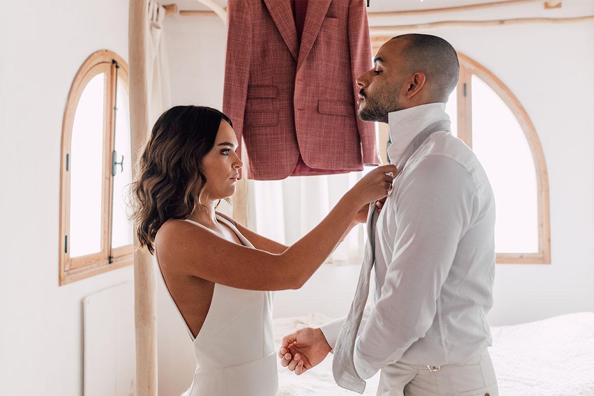 das strikken voor bruiloft
