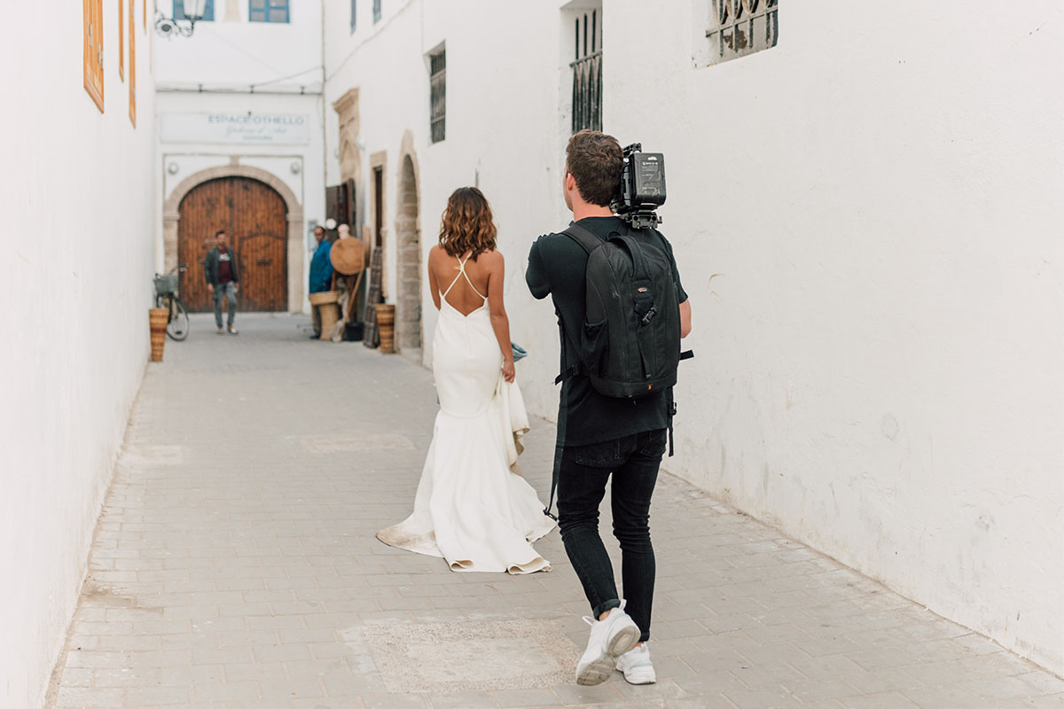 cameraman foto bruiloft