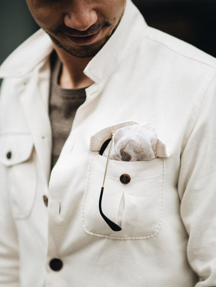 overhemd van katoen met pochet