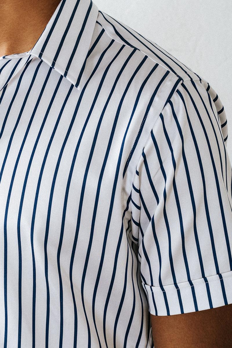overhemd korte mouw gestreept