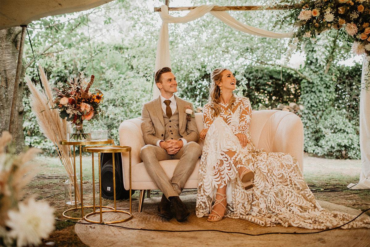 trouwceremonie zomerse bruiloft