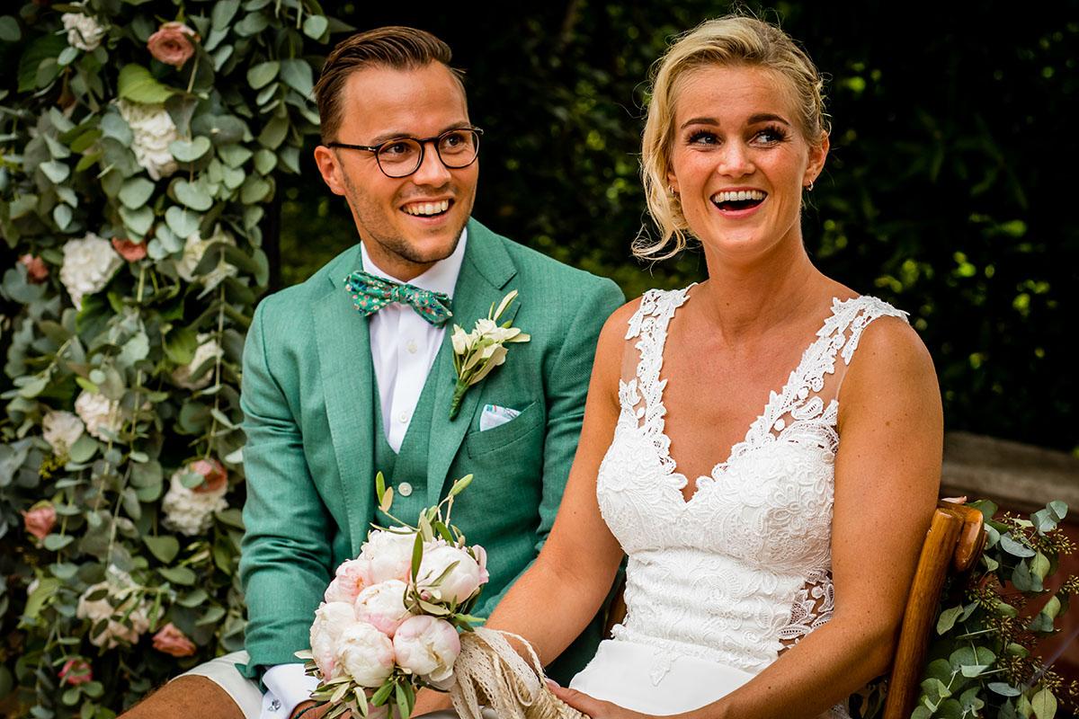 buitenlandse zomerse bruiloft