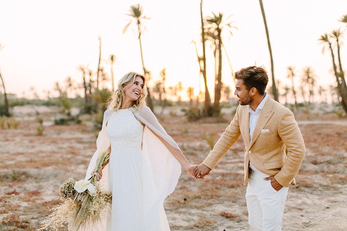 oker geel trouwpak op maat bruiloft marrakech