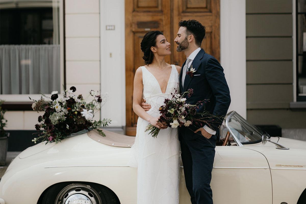 feestelijke oldtimer voor bruiloft