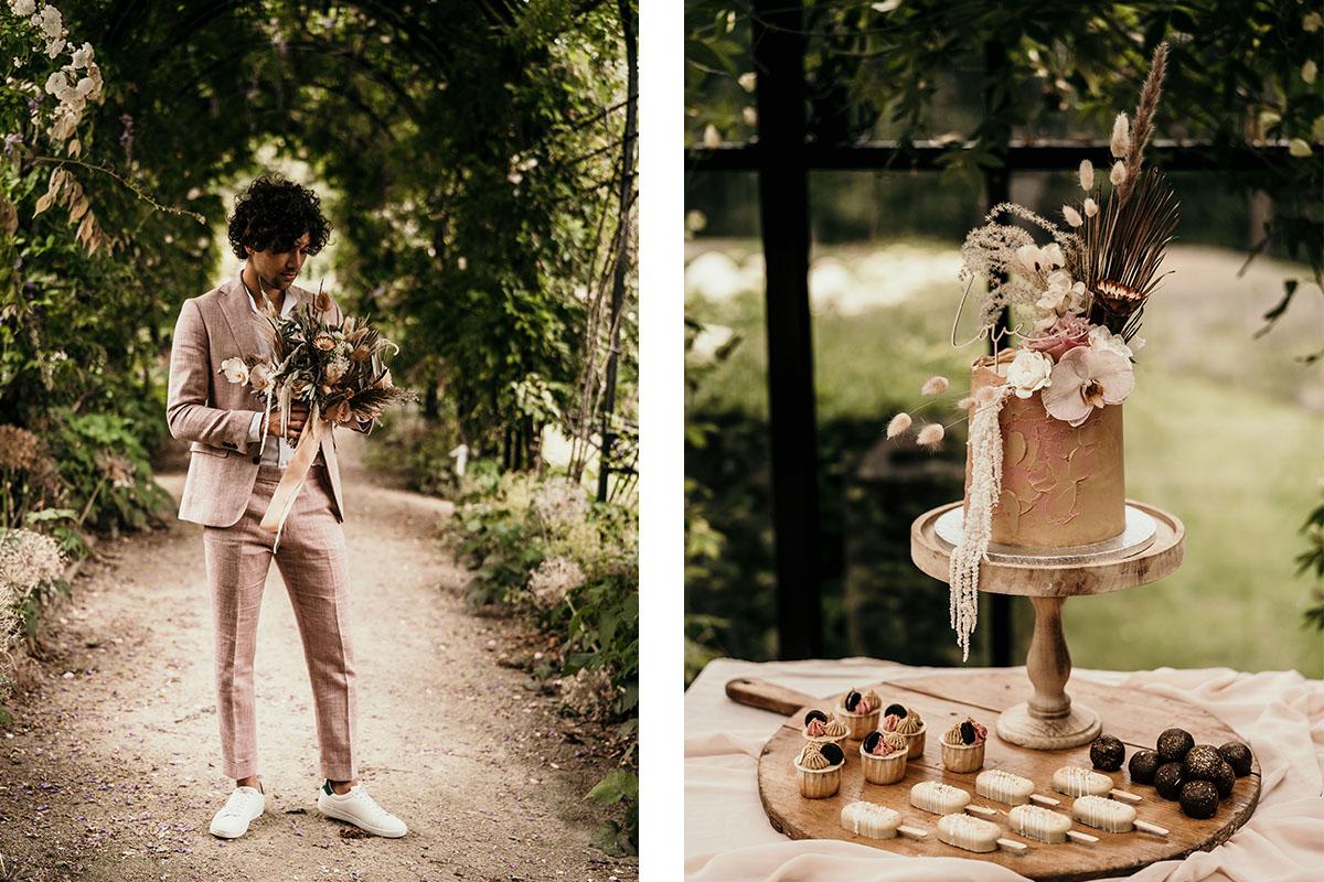 cake-taart-roze-trouwpak-op-maat