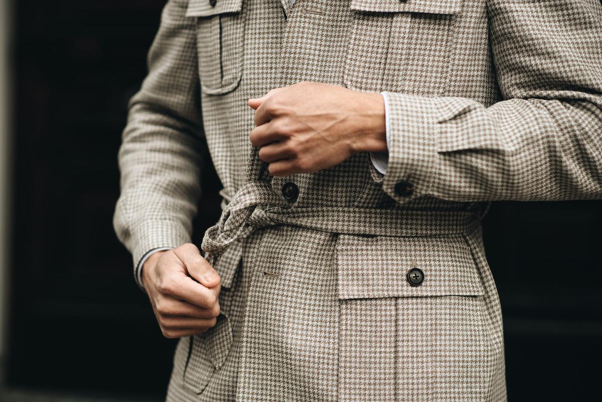 Safari jacket met belt