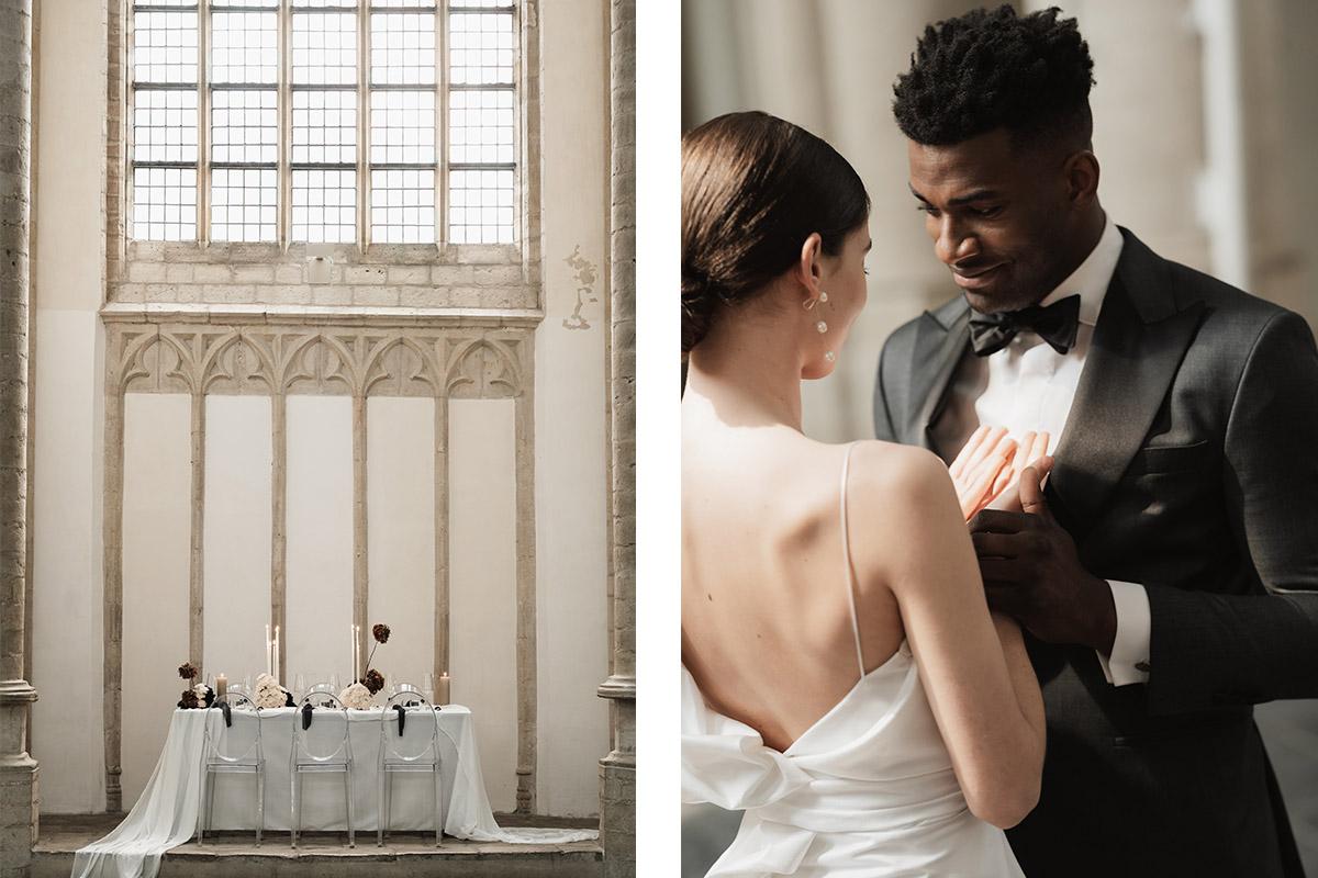 table-kerk-tafelsetting-diner-smoking-huwelijk-details-maatpak